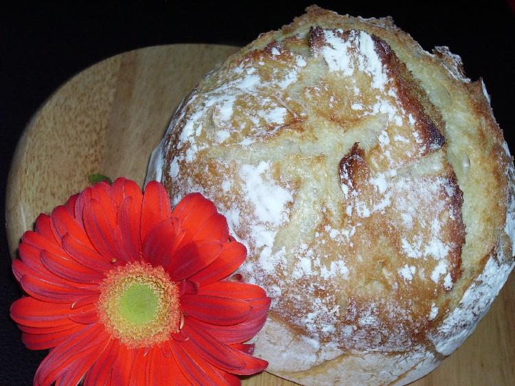 pain blanc sans petrissage aux lait et miel 1