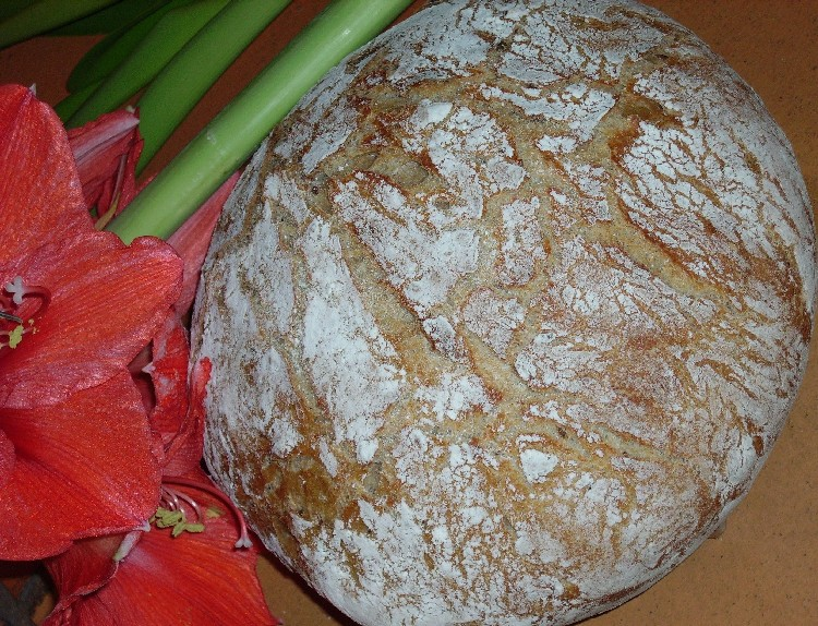 pain complet à la farine d`orge 1